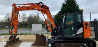 Hitachi ZX85US B-5 used mini excavator