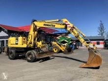 Komatsu PW160-7 excavator pe roti second-hand