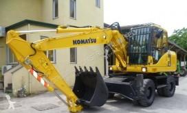 Komatsu PW140-7 used wheel excavator