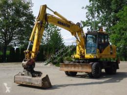 Escavadora escavadora de rodas Komatsu PW160-7 Mobilbagger Top Zustand!