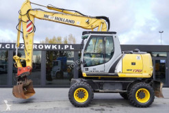 New Holland WE 170 Compact 3x broken arm , tipping bucket , joystick excavadora de ruedas usada