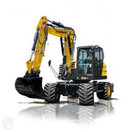Yanmar Mobiele graafmachine B110W bij Eemsned escavatore gommato nuovo