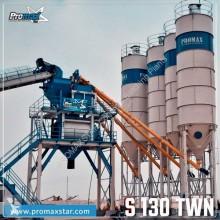 Centrale à béton Promaxstar Stationary Concrete Batching Plant S130-TWN (130m3/h))