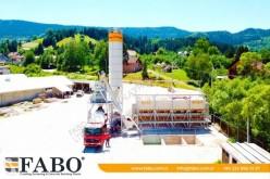 Fabo FABO CENTRALE A BETON COMPACT DE 110 M3/H NOUVEAU PROJET TYPE A BANDE centrale à béton neuve