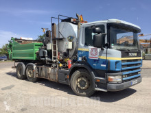 Scania 460 w/ Secmair Sprayer and Bruleur Franklin Asphalt Heater pompe à béton occasion