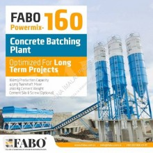 Beton Fabo POWERMIX-160 STATIONARY CONCRETE BATCHING PLANT nieuw betoncentrale