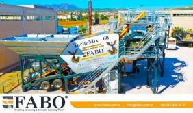 Fabo PRET EN STOCK CENTRALE A BETON MOBILE 60 M3/H new concrete plant