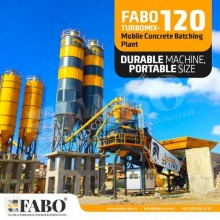 Fabo TURBOMIX - 120 CENTRALE A BETON MOBILE CERTIFICAT CE** betonownia nowy