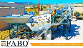 Fabo READY IN STOCK MOBILE CONCRETE PLANT 60 M3/H central de betão nova