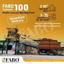 Fabo READY IN STOCK MOBILE CONCRETE PLANT 100 M3/H new concrete plant