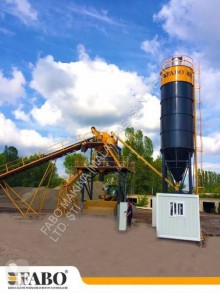 Fabo 75m3/h STATIONARY CONCRETE MIXING PLANT new concrete plant