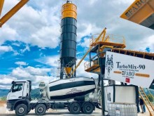 Fabo TURBOMIX 90 MOBILE READYMIX BATCHING PLANT FOR SALE használt betonozó üzem