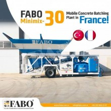 Fabo MINIMIX 30 M3/H MOBILE CONCRETE PLANT EASY TRANSPORT central de betão nova