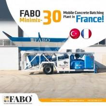 Fabo MINIMIX-30 CENTRALE A BETON MOBILE TRANSPORT TRES FACILE centrale à béton neuf