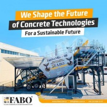Fabo BEST CONCRETE PLANT EVER MADE TURBOMIX-60 READY ON STOCK NOW beton udlægningsmaskine ny