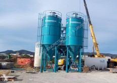 Constmach betonozó üzem 50 TONNES CAPACITY CEMENT SILO, READY FROM STOCK