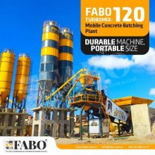 Betonárske zariadenie dávkovacie zariadenie betonárne Fabo TURBOMİX 120 NEW DESIGN MOBILE CONCRETE BATCHING PLANT IN ALL CAPACITIES