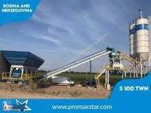 Promaxstar betonozó üzem Stationary Concrete Batching Plant S100-TWN (100m3/h)