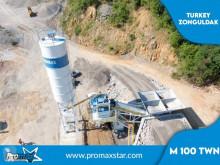اسمنت مصنع اسمنت Promaxstar Mobile Concrete Batching Plant M100-TWN (100m³/h)