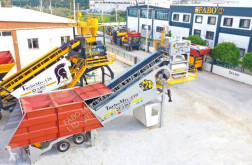 Betonownia Fabo TURBOMIX-110 Mobile Concrete Batching Plant