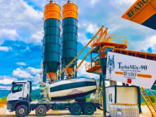 اسمنت Fabo TURBOMIX-90 MOBILE CONCRETE BATCHING PLANT مصنع اسمنت جديد
