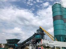 Constmach Planta de concreto móvel 120 m3 / h central de betão novo