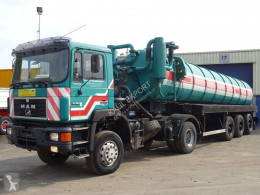 Camion hydrocureur MAN 19.322 + Mabo Toilet/Vacuum Trailer 25.000L Full Steel Good Working