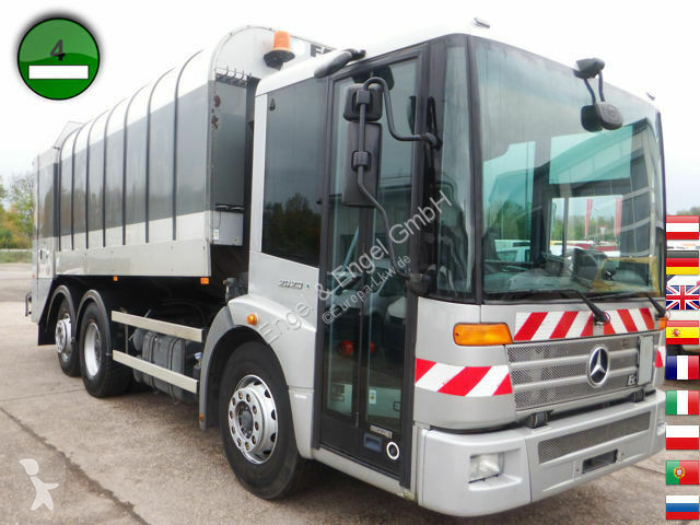 View images Mercedes 2629 L Econic - Faun Rotopress 520 L Zöller Sch. road network trucks