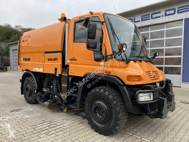 Vedere le foto Veicolo per la pulizia delle strade Unimog U400 U 400 4x4 Euro 5 Kehrmaschine Faun VIAJET 5