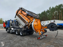 Maquinaria vial camión limpia fosas MERCEDES-BENZ ACTROS 8x4 WUKO RECYTLING do zbierania odpadów płynnych