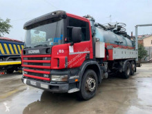 Maquinaria vial Scania camión limpia fosas usado