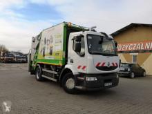 Renault Midlum EURO V garbage truck mullwagen lastbil med ske til husholdningsaffald brugt