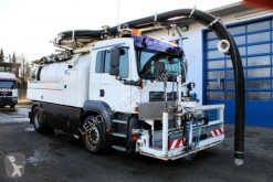 MAN sewer cleaner truck TGA 18.310 Wiedemann 8m³ Saug u.Spül V2A Kipper