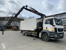 MAN TGS 26.360 6x2 Müllpresse + Kran Jonsered J1420 used waste collection truck