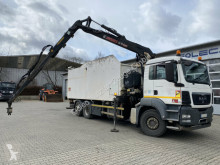 Camion de colectare a deşeurilor menajere MAN TGS 26.360 6x2 Müllpresse + Kran Jonsered J1420