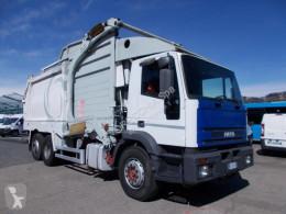 Camion benne à ordures ménagères Iveco 260E27 COMPATTATORE SCARICO FRONTALE