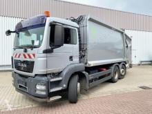 Maquinaria vial MAN TGS 26.320 6x2-4 BL 26.320 6x2-4 BL, Lenkachse, Hüffermann CL23, Zöller-Schüttung camión volquete para residuos domésticos usado