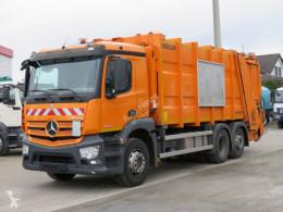 Maquinaria vial Mercedes Antos 2536 L 6x2 Müllwagen Zoeller + Schüttung camión volquete para residuos domésticos usado