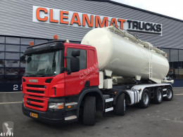 Maquinaria vial Scania P 380 camión limpia fosas usado