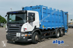 Camion benne à ordures ménagères Scania R R320DB 4MNA 6x2, Zöller Medium XL, Klima, Euro 5