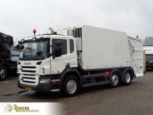 Maquinaria vial Scania P 230 camión volquete para residuos domésticos usado