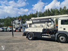 Maquinaria vial MAN 4x2 ADR MULLER MÜLLER WUKO CANALMASTER for collecting liquid was camión limpia fosas usado