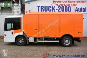 Maquinaria vial camión limpia fosas Mercedes 1828 Hochdruck Kanalreiniger 9.000 Liter Uraca