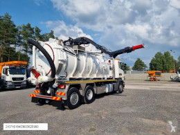 Camion hydrocureur Scania Larsen 4 VAC Vacuum Saugbagger suction-blower charger