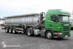 Scania G 480 E6 Edelstahl-Saug- und Druckauflieger 8mm camión limpia fosas usado