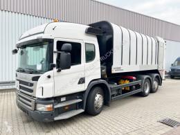 Scania P320 6x2 P320 6x2, Lenkachse, FAUN Rotopress 521 camião basculante para recolha de lixo usado