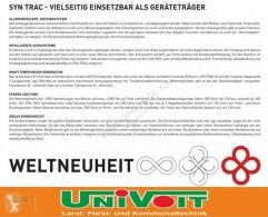 Vedere le foto Veicolo per la pulizia delle strade nc SYN TRAC Winterdienst Geräteträger Kommunal Schneepflug