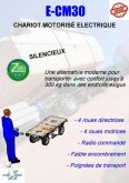 carretilla autoguiada Hydrosystem CHARIOT ELECTRIQUE MOTORISE E-CM30