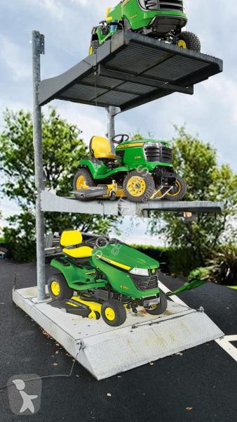 Voir les photos Espaces verts nc Support porte-tondeuse autoportée 3 plateaux en acier galvanisé