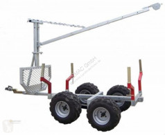 Remorque forestière ATV Quad 2ton Rückewagen Holzrückewagen Forst Kran Traktor